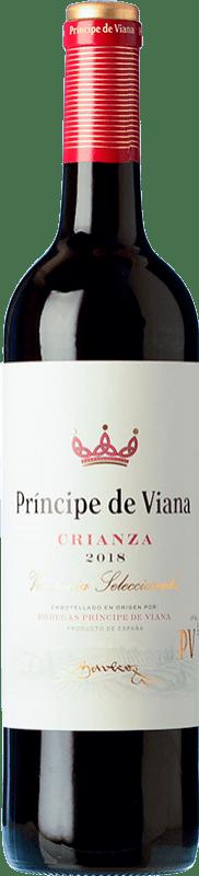 5,95 € 免费送货   红酒 Príncipe de Viana Crianza D.O. Navarra 纳瓦拉 西班牙 Tempranillo, Merlot, Cabernet Sauvignon 瓶子 75 cl