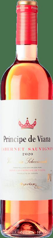 5,95 € 免费送货   玫瑰酒 Príncipe de Viana Cabernet Sauvignon Joven D.O. Navarra 纳瓦拉 西班牙 Merlot, Cabernet Sauvignon 瓶子 75 cl