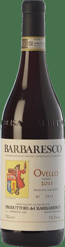 47,95 € Envío gratis | Vino tinto Produttori del Barbaresco Ovello D.O.C.G. Barbaresco Piemonte Italia Nebbiolo Botella 75 cl