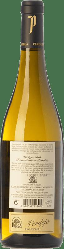 23,95 € Free Shipping | White wine Protos Fermentado en Barrica Crianza D.O. Rueda Castilla y León Spain Verdejo Bottle 75 cl