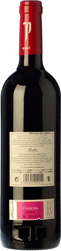 9,95 € Free Shipping   Red wine Protos Roble D.O. Ribera del Duero Castilla y León Spain Tempranillo Bottle 75 cl