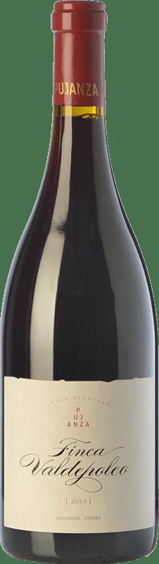 24,95 € Envío gratis | Vino tinto Pujanza Finca Valdepoleo Crianza D.O.Ca. Rioja La Rioja España Tempranillo Botella 75 cl