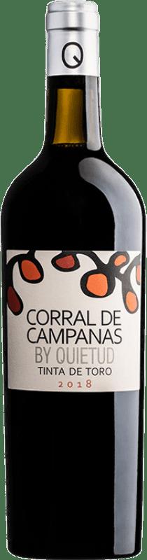 13,95 € 免费送货   红酒 Quinta de la Quietud Corral de Campanas Joven D.O. Toro 卡斯蒂利亚莱昂 西班牙 Tinta de Toro 瓶子 75 cl