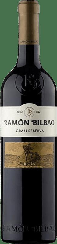 21,95 € Envío gratis | Vino tinto Ramón Bilbao Gran Reserva D.O.Ca. Rioja La Rioja España Tempranillo, Garnacha, Graciano Botella 75 cl