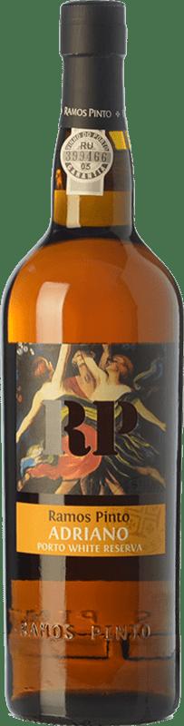 19,95 € Free Shipping | Fortified wine Ramos Pinto Adriano White Reserva I.G. Porto Porto Portugal Malvasía, Códega, Rabigato, Viosinho Bottle 75 cl
