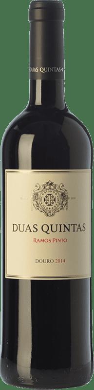 15,95 € 免费送货 | 红酒 Ramos Pinto Duas Quintas Crianza I.G. Douro 杜罗 葡萄牙 Touriga Franca, Touriga Nacional, Tinta Roriz 瓶子 75 cl