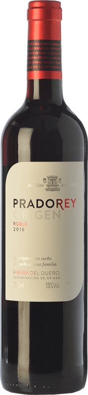 7,95 € Envoi gratuit | Vin rouge Ventosilla PradoRey Roble D.O. Ribera del Duero Castille et Leon Espagne Tempranillo, Merlot, Cabernet Sauvignon Bouteille 75 cl
