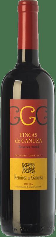 32,95 € 免费送货 | 红酒 Remírez de Ganuza Fincas de Ganuza Reserva D.O.Ca. Rioja 拉里奥哈 西班牙 Tempranillo, Graciano 瓶子 75 cl
