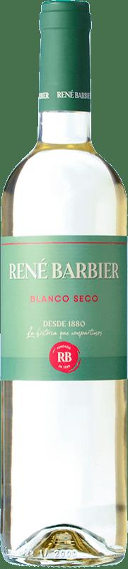 5,95 € Envío gratis | Vino blanco René Barbier Kraliner Seco Joven D.O. Penedès Cataluña España Macabeo, Xarel·lo, Parellada Botella 75 cl