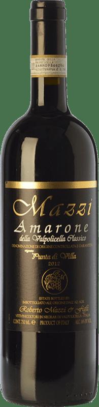 52,95 €   Red wine Mazzi Classico Punta di Villa D.O.C.G. Amarone della Valpolicella Veneto Italy Corvina, Rondinella, Corvinone, Molinara Bottle 75 cl