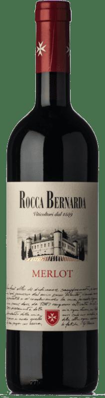 15,95 € Free Shipping | Red wine Rocca Bernarda D.O.C. Colli Orientali del Friuli Friuli-Venezia Giulia Italy Merlot Bottle 75 cl