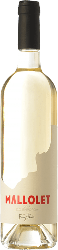 9,95 € Free Shipping | White wine Roig Parals Mallolet Blanc D.O. Empordà Catalonia Spain Grenache White, Muscat of Alexandria, Macabeo Bottle 75 cl