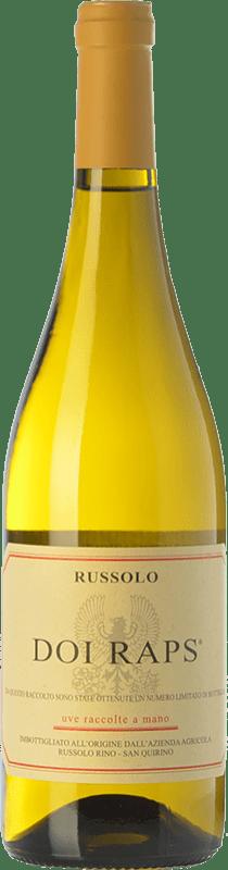 15,95 € Free Shipping | White wine Russolo Doi Raps I.G.T. Friuli-Venezia Giulia Friuli-Venezia Giulia Italy Sauvignon White, Pinot Grey, Pinot White Bottle 75 cl