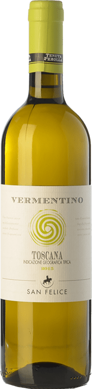 7,95 € Free Shipping | White wine San Felice Perolla Vermentino I.G.T. Toscana Tuscany Italy Sauvignon, Vermentino Bottle 75 cl