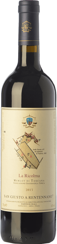 49,95 € Free Shipping | Red wine San Giusto a Rentennano La Ricolma I.G.T. Toscana Tuscany Italy Merlot Bottle 75 cl