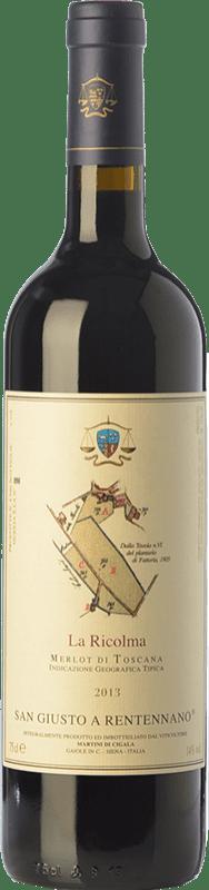 49,95 € 免费送货 | 红酒 San Giusto a Rentennano La Ricolma I.G.T. Toscana 托斯卡纳 意大利 Merlot 瓶子 75 cl