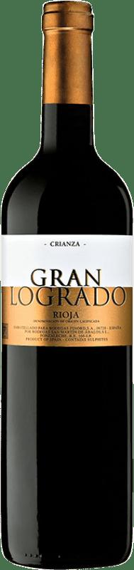12,95 € Free Shipping | Red wine San Martín de Ábalos Gran Logrado Crianza D.O.Ca. Rioja The Rioja Spain Tempranillo, Grenache, Viura Bottle 75 cl
