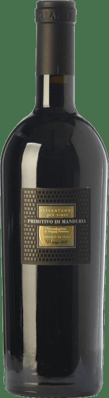 69,95 € Envío gratis | Vino tinto San Marzano Sessantanni D.O.C. Primitivo di Manduria Puglia Italia Primitivo Botella Mágnum 1,5 L