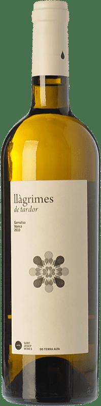 12,95 € Envío gratis | Vino blanco Sant Josep Llàgrimes de Tardor Blanc Crianza D.O. Terra Alta Cataluña España Garnacha Blanca Botella 75 cl