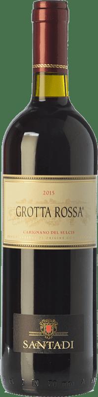 11,95 € 免费送货 | 红酒 Santadi Carignano del Sulcis Grotta Rossa D.O.C. Carignano del Sulcis 撒丁岛 意大利 Carignan 瓶子 75 cl