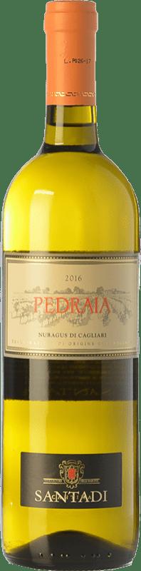 7,95 € 免费送货 | 白酒 Santadi Pedraia D.O.C. Nuragus di Cagliari 撒丁岛 意大利 Nuragus 瓶子 75 cl