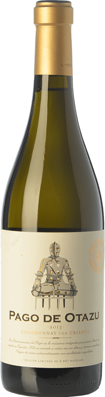 35,95 € Free Shipping | White wine Señorío de Otazu Crianza D.O.P. Vino de Pago de Otazu Navarre Spain Chardonnay Bottle 75 cl