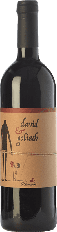 23,95 € Free Shipping | Red wine Sexto Elemento David & Goliath Crianza Spain Bobal Bottle 75 cl
