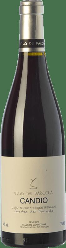 34,95 € Envío gratis | Vino tinto Soagranorte Suertes del Marqués Candio Crianza D.O. Valle de la Orotava Islas Canarias España Listán Negro Botella 75 cl