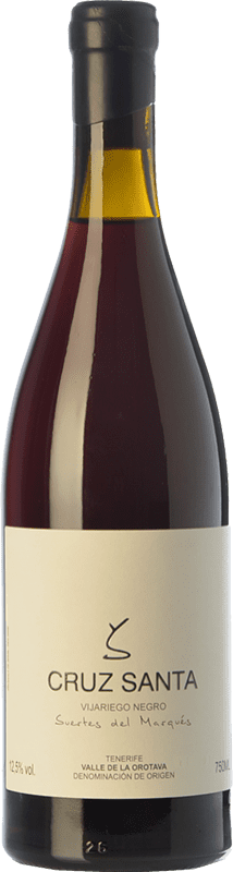 34,95 € Free Shipping | Red wine Soagranorte Suertes del Marqués Cruz Santa Crianza D.O. Valle de la Orotava Canary Islands Spain Vijariego Black Bottle 75 cl