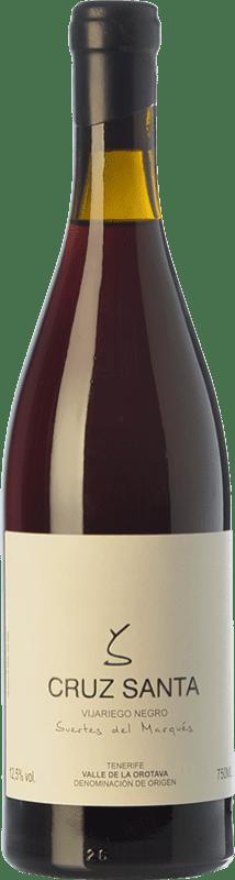 34,95 € 免费送货 | 红酒 Soagranorte Suertes del Marqués Cruz Santa Crianza D.O. Valle de la Orotava 加那利群岛 西班牙 Vijariego Black 瓶子 75 cl
