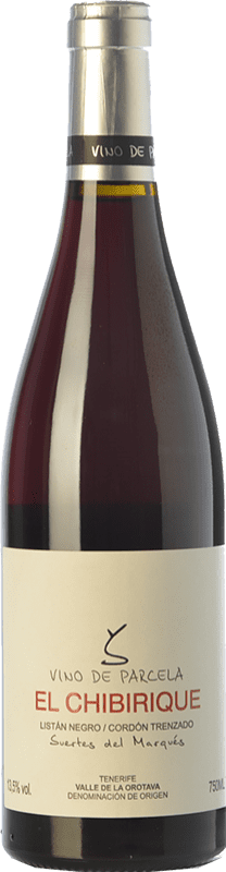 34,95 € Free Shipping | Red wine Soagranorte Suertes del Marqués El Chibirique Joven D.O. Valle de la Orotava Canary Islands Spain Listán Black Bottle 75 cl