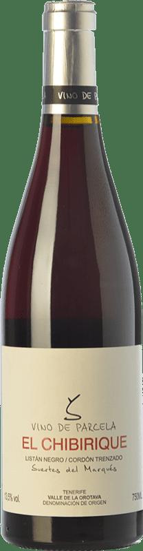 34,95 € Envío gratis | Vino tinto Soagranorte Suertes del Marqués El Chibirique Joven D.O. Valle de la Orotava Islas Canarias España Listán Negro Botella 75 cl