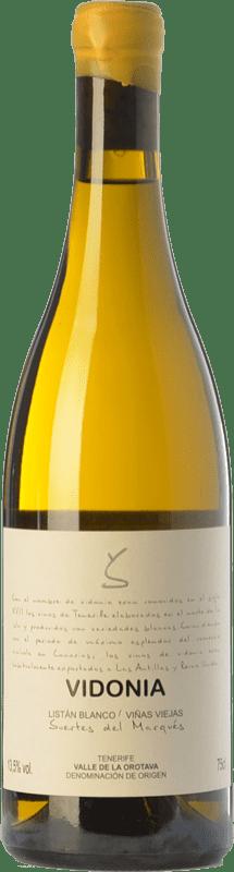33,95 € 免费送货 | 白酒 Soagranorte Suertes del Marqués Vidonia Crianza D.O. Valle de la Orotava 加那利群岛 西班牙 Listán White 瓶子 75 cl
