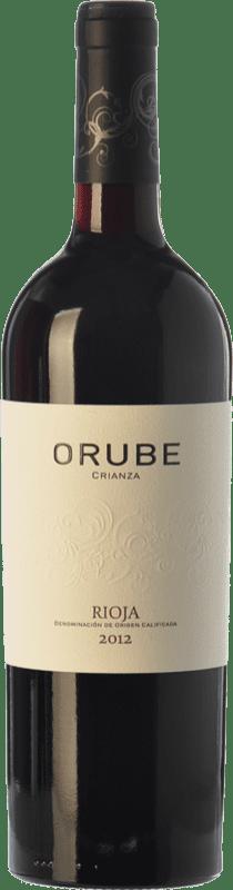 11,95 € 免费送货   红酒 Solar Viejo Orube Crianza D.O.Ca. Rioja 拉里奥哈 西班牙 Tempranillo, Grenache, Graciano 瓶子 75 cl