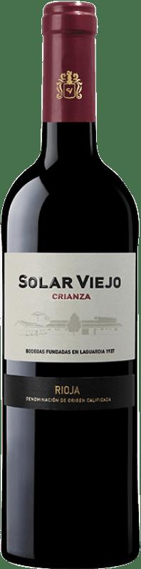 8,95 € Envoi gratuit | Vin rouge Solar Viejo Crianza D.O.Ca. Rioja La Rioja Espagne Tempranillo Bouteille 75 cl