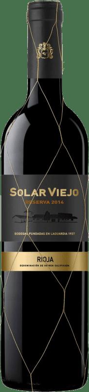 14,95 € 免费送货   红酒 Solar Viejo Reserva D.O.Ca. Rioja 拉里奥哈 西班牙 Tempranillo, Graciano 瓶子 75 cl