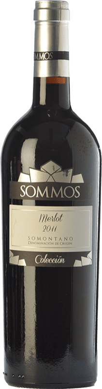 18,95 € Free Shipping | Red wine Sommos Colección Crianza D.O. Somontano Aragon Spain Merlot Bottle 75 cl