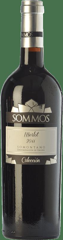 18,95 € Envío gratis | Vino tinto Sommos Colección Crianza D.O. Somontano Aragón España Merlot Botella 75 cl