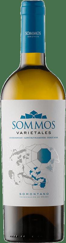 9,95 € 免费送货 | 白酒 Sommos Varietales Crianza D.O. Somontano 阿拉贡 西班牙 Pinot Black, Chardonnay, Gewürztraminer 瓶子 75 cl
