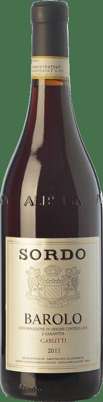 53,95 € Envoi gratuit | Vin rouge Sordo Gabutti D.O.C.G. Barolo Piémont Italie Nebbiolo Bouteille 75 cl