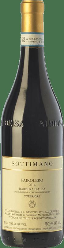 26,95 € Envío gratis | Vino tinto Sottimano Pairolero D.O.C. Barbera d'Alba Piemonte Italia Barbera Botella 75 cl