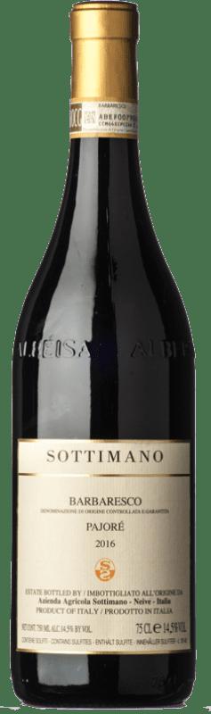 79,95 € Envío gratis | Vino tinto Sottimano Pajorè D.O.C.G. Barbaresco Piemonte Italia Nebbiolo Botella 75 cl