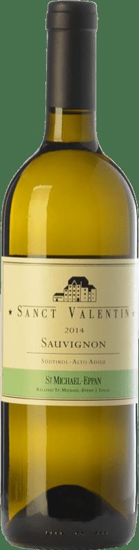 29,95 € Envío gratis | Vino blanco St. Michael-Eppan Sanct Valentin D.O.C. Alto Adige Trentino-Alto Adige Italia Sauvignon Blanca Botella 75 cl