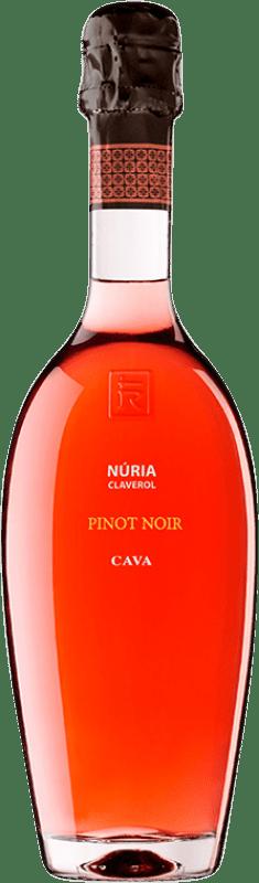 33,95 € 免费送货 | 玫瑰气泡酒 Sumarroca Núria Claverol Rosé 香槟 Reserva D.O. Cava 加泰罗尼亚 西班牙 Pinot Black 瓶子 75 cl