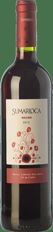 5,95 € Free Shipping | Red wine Sumarroca Negre Joven D.O. Penedès Catalonia Spain Tempranillo, Merlot, Cabernet Sauvignon Bottle 75 cl