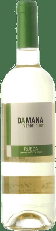 5,95 € Envío gratis | Vino blanco Tábula Damana D.O. Rueda Castilla y León España Verdejo Botella 75 cl