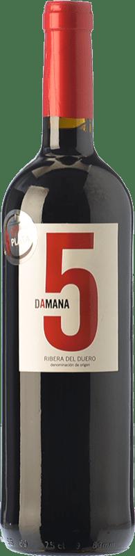 9,95 € Envío gratis | Vino tinto Tábula Damana 5 Joven D.O. Ribera del Duero Castilla y León España Tempranillo, Cabernet Sauvignon Botella 75 cl