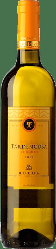 7,95 € Envío gratis | Vino blanco Tardencuba Joven D.O. Rueda Castilla y León España Verdejo Botella 75 cl