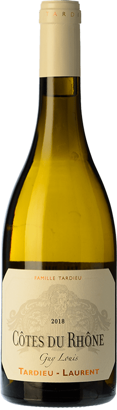 29,95 € Envoi gratuit | Vin blanc Tardieu-Laurent Guy Louis Blanc Crianza I.G.P. Vin de Pays Rhône Rhône France Grenache Blanc, Roussanne, Viognier, Marsanne Bouteille 75 cl