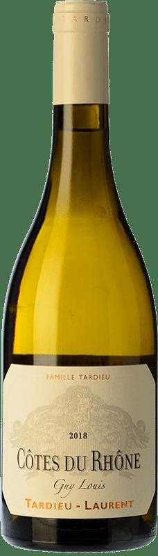 29,95 € Free Shipping | White wine Tardieu-Laurent Guy Louis Blanc Crianza I.G.P. Vin de Pays Rhône Rhône France Grenache White, Roussanne, Viognier, Marsanne Bottle 75 cl